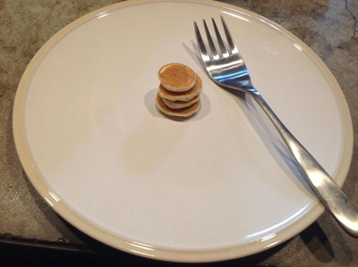 """I Only Want Tiny Pancakes Today."" Troll Dad Obliges"