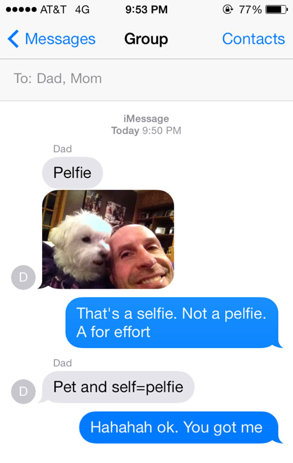 Funny Dad Text