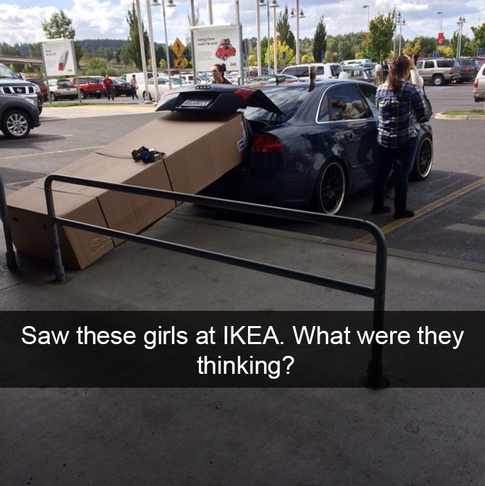 Saw These Girls At Ikea. What Were They Thinking?