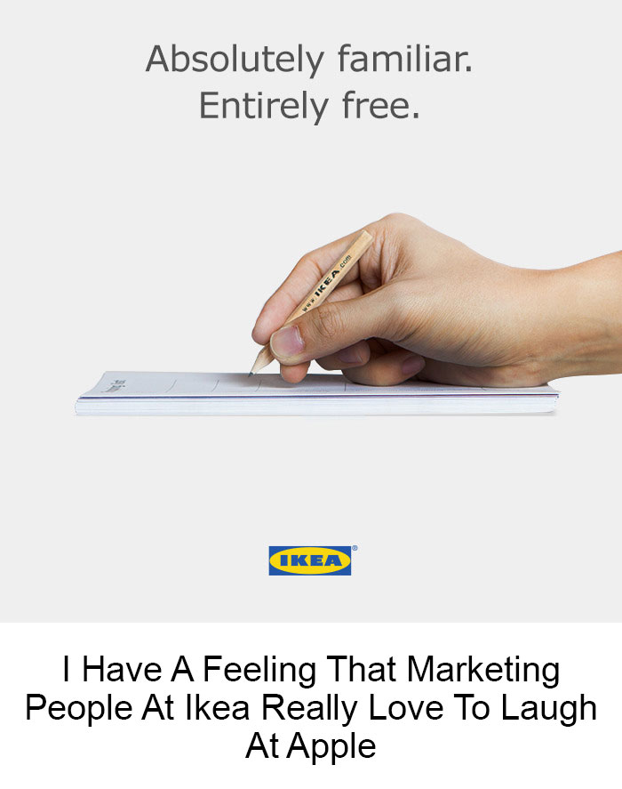 I Have A Feeling That Marketing People At Ikea Really Love To Laugh At Apple