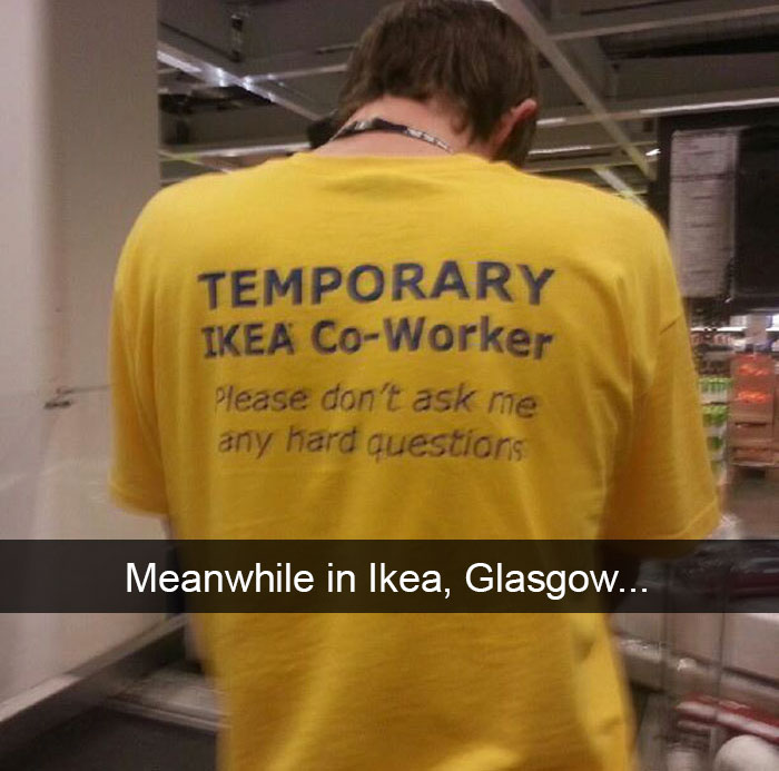 Meanwhile In Ikea, Glasgow...