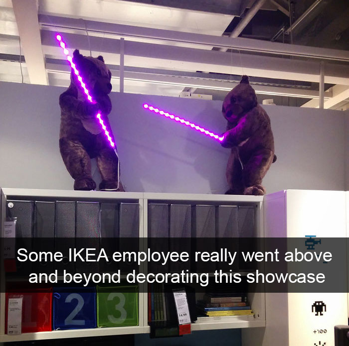 Some Ikea Employee Really Went Above And Beyond Decorating This Showcase