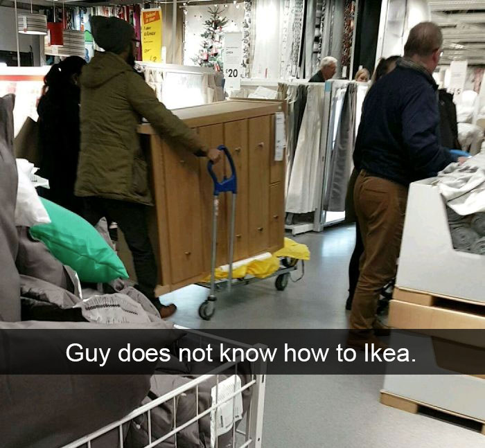 Guy Does Not Know How To Ikea