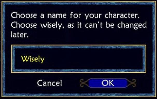 He Chose... Wisely