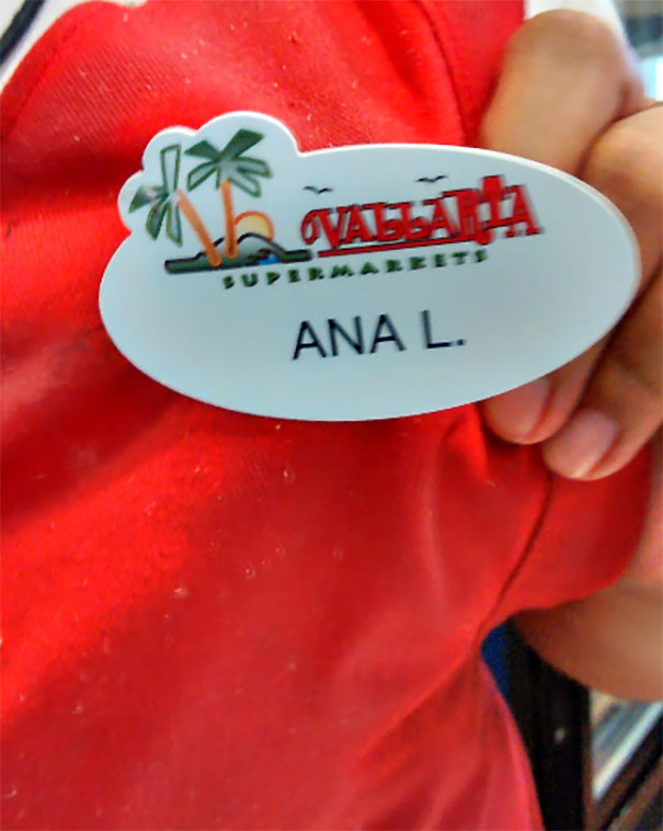My Co-Worker's Unfortunate Name Tag