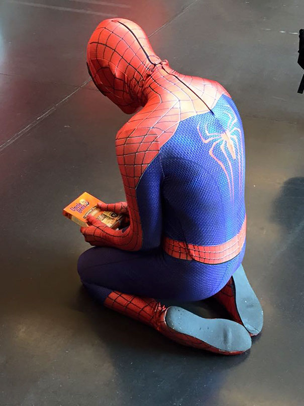 Funny Spiderman Cosplay