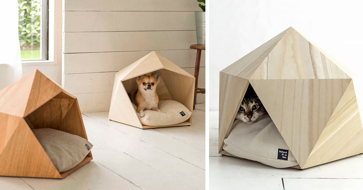 Geometric Pet Beds To Please Your Master's Sophisticated Taste