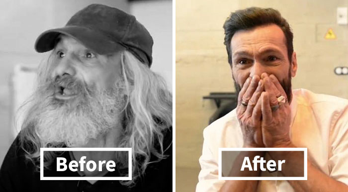 """Homeless Man's Unbelievable Transformation Into """"Hipster"""" Makes Him Burst Into Tears"""