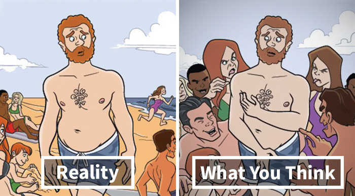 6 Comics Show How The World Looks When You're Self-Conscious