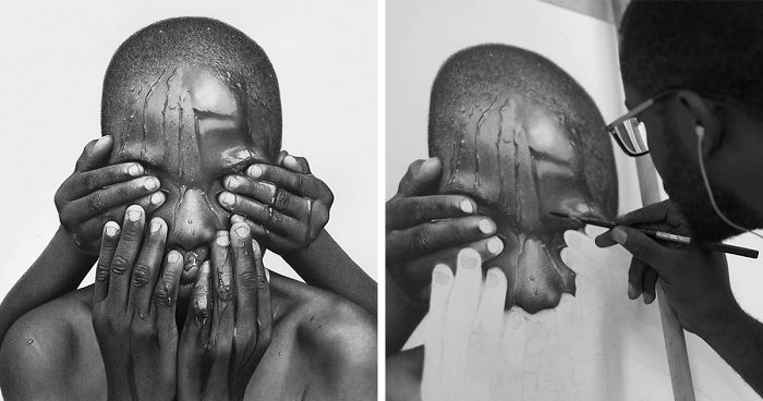 Unbelievably realistic pencil drawings by this nigerian artist look more real than photos themselves