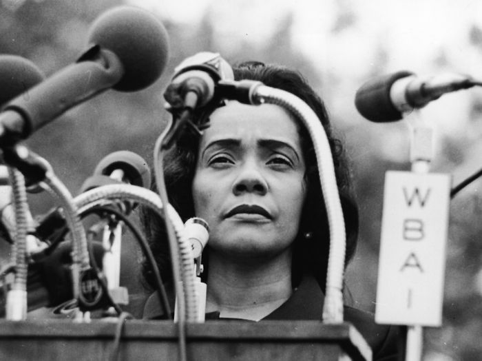 Coretta Scott King. American Author, Activist, Civil Rights Leader, And The Wife Of Martin Luther King, Jr.