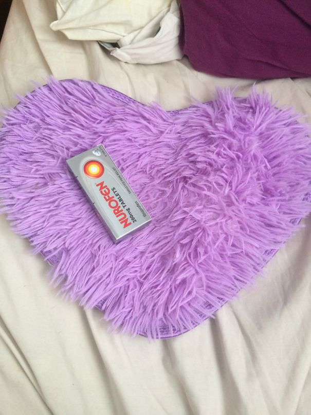 Was Supposed To Be A Big Heart Shaped Rug For My Room