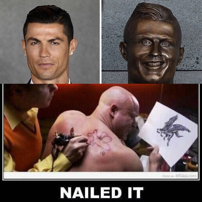 Ronaldo Bust...nailed It!