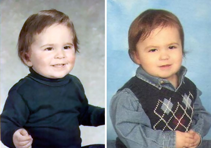 Father And Son At The Age 2