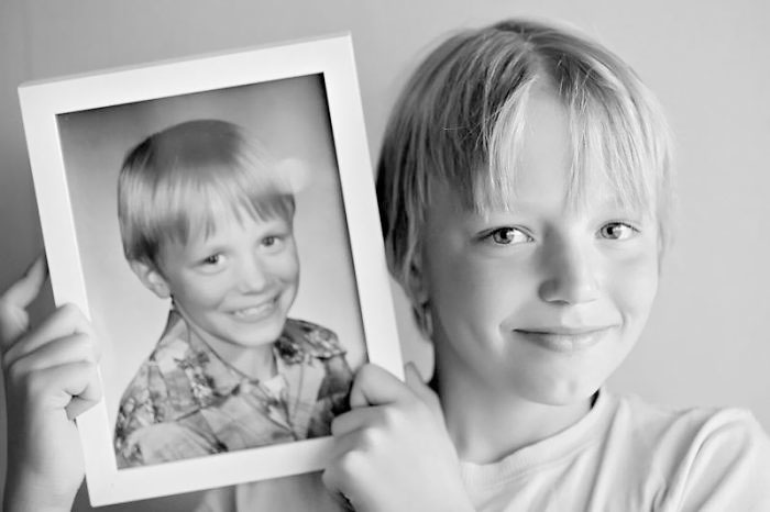 Father And Son At The Age 10