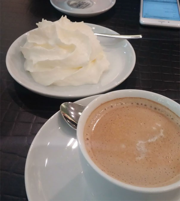 Ordered Coffee With Cream In Germany And This Is What I Got