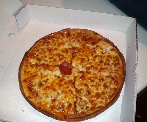 Ordered A Pepperoni Pizza, Got A Pepperoni, With A Pizza