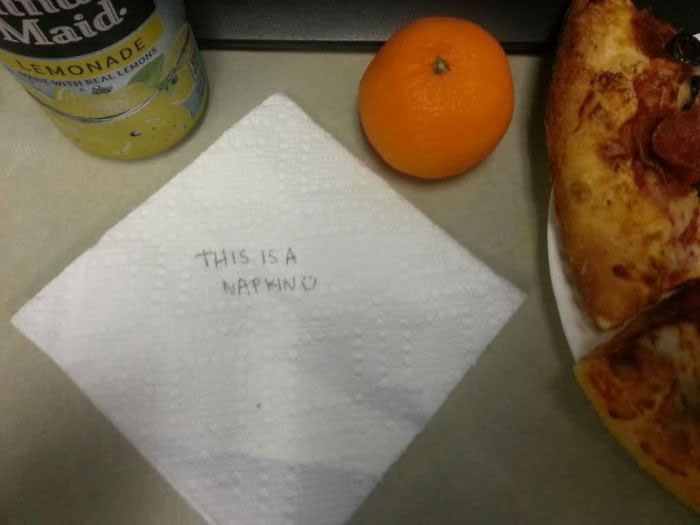 My Wife Usually Leaves Me Cute Little Notes In My Lunch. I Think Our Romance Is Gone