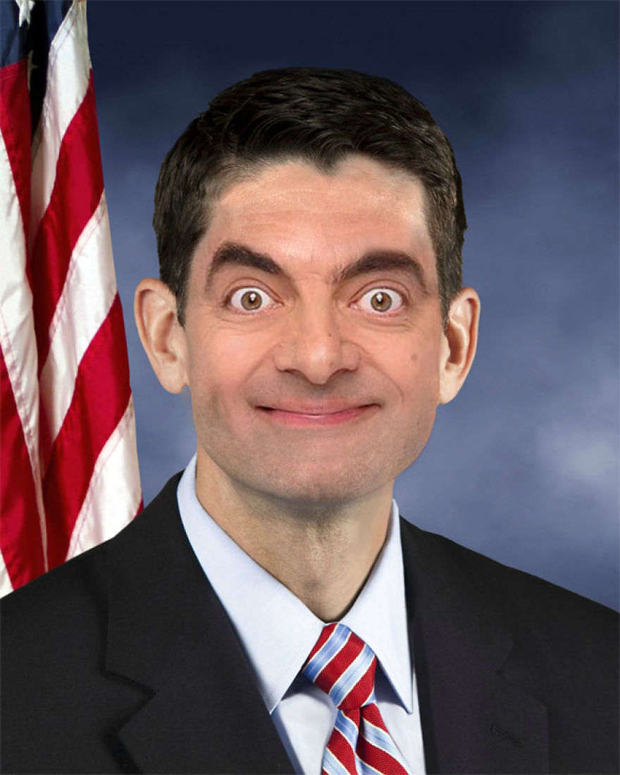 Mr Bean Photoshop