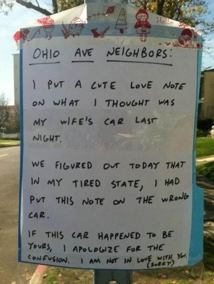 Neighborly Love Note