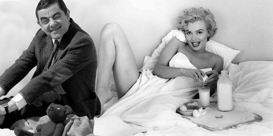 Mr Bean And Marilyn Monroe