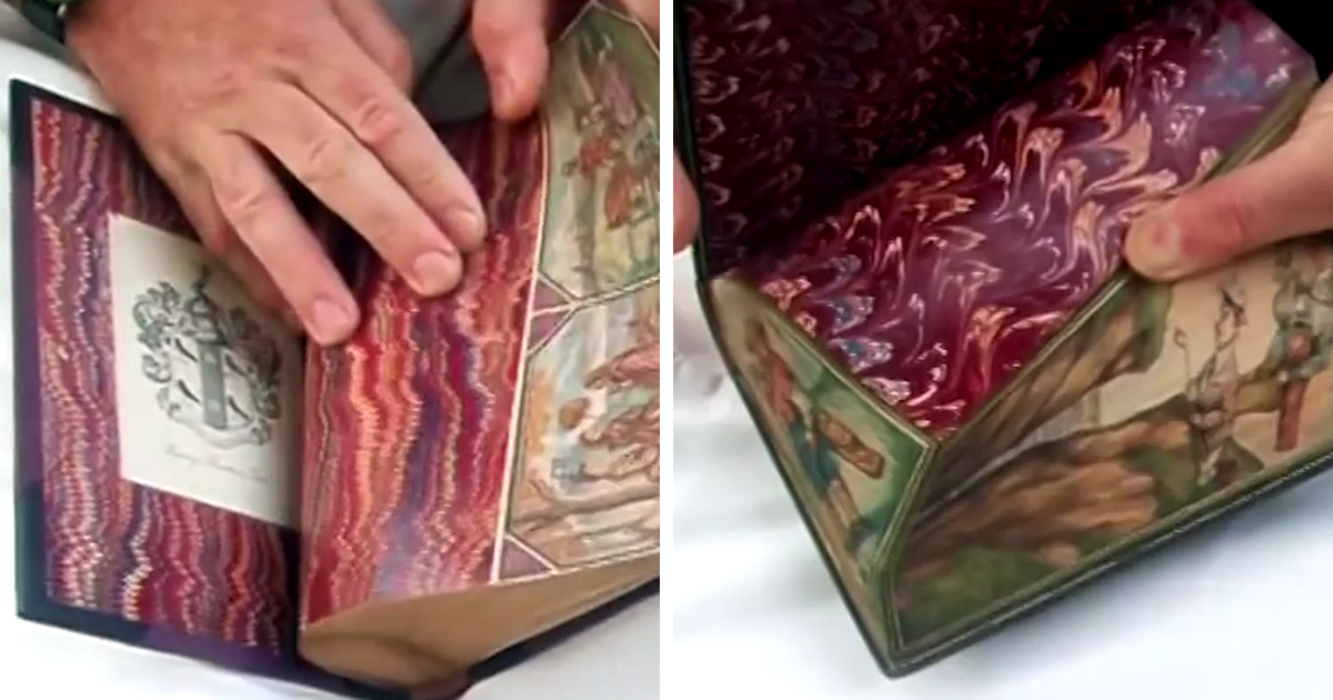 Hidden Paintings In Old Books