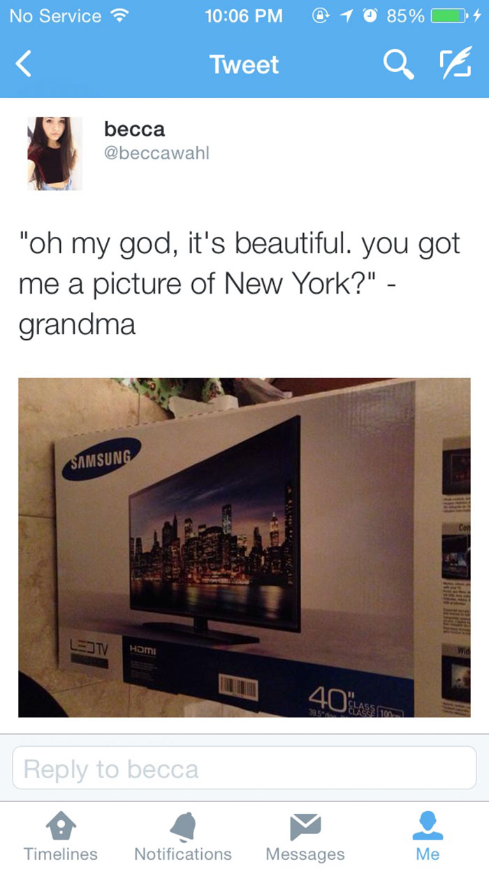 So We Got Grandma A Tv...