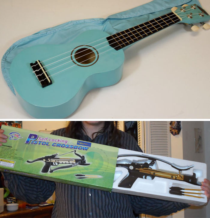 Encargué un ukelele azul como regalo de navidad para una niña de 3 años, llegó esto