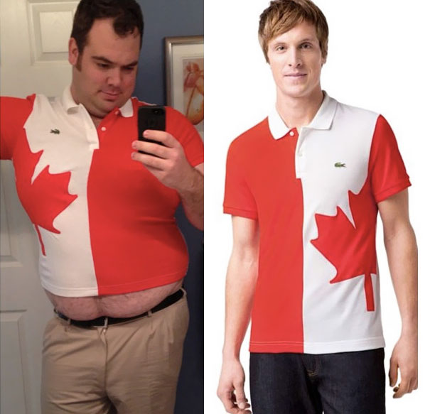 My Friend Ordered A Large T-Shirt From Canada, This Is What He Got