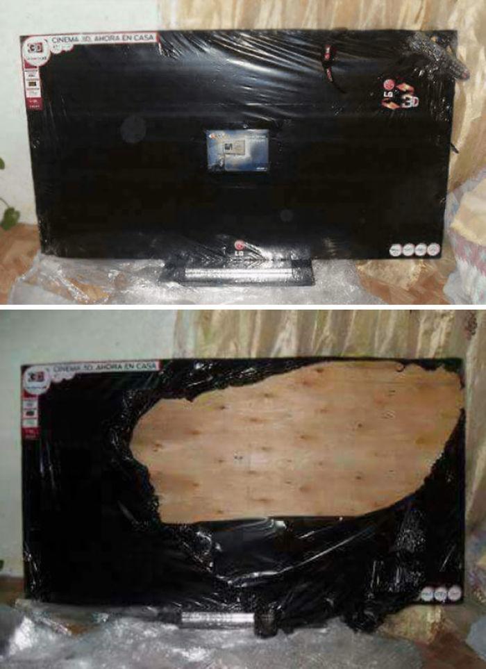 Creo que no fue una buena idea comprar una tele a vendedores que no son de confianza