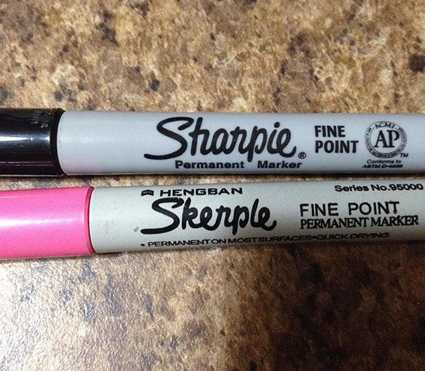 I Got A Fake Sharpie. It's A Skerple