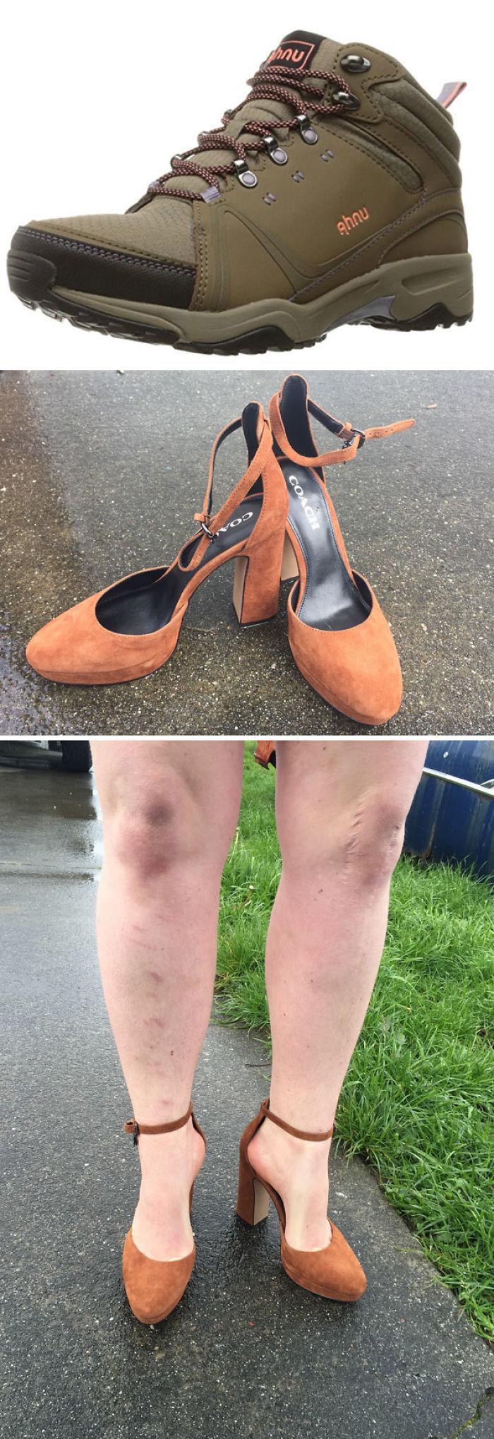No se parece a las botas de senderismo que encargué...