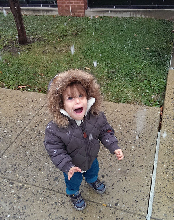 My Son Seeing Snow For The First Time