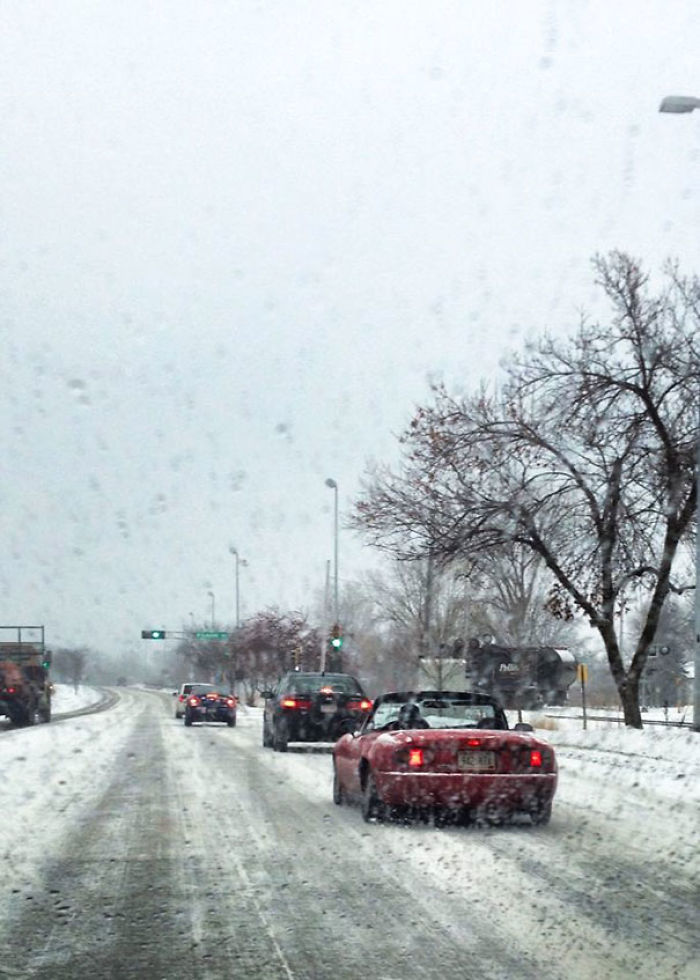 Zero F*cks On A Snowy Morning In Madison, WI