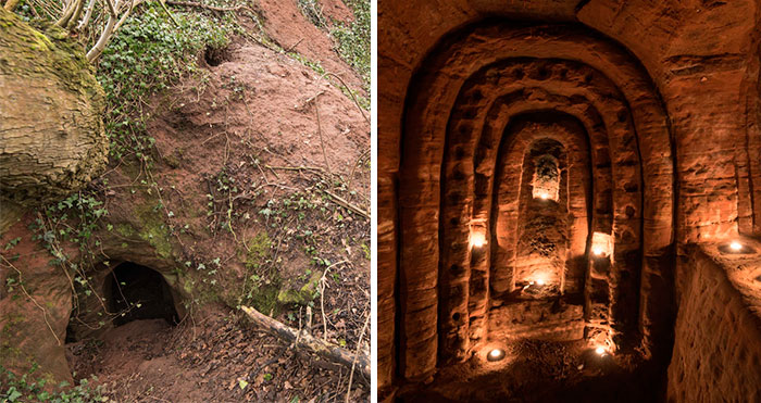 Rabbit Hole Leads To A Secret 700-Year-Old Cave Network Built By Knights Templar
