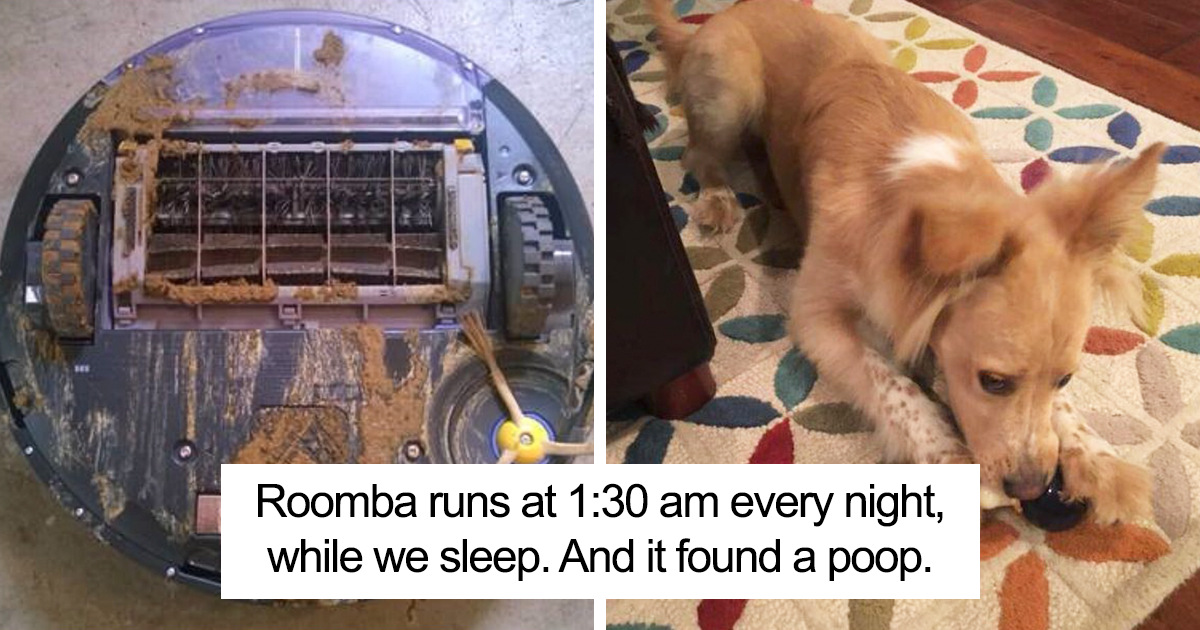 This Dad Just Learned What Happens When Roomba Runs Over