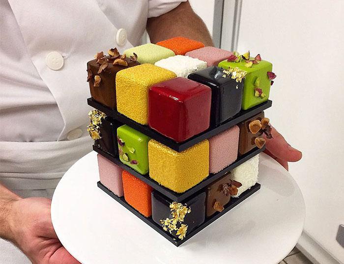 La nueva tendencia son los dulces de Rubik, y son demasiado perfectos para comérselos