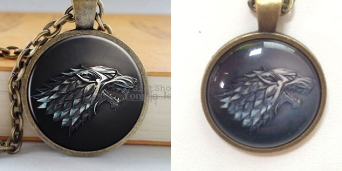 """Ordered A """"3d Sculpted"""" Got Necklace, Received A Printed One With A Glossy Surface."""