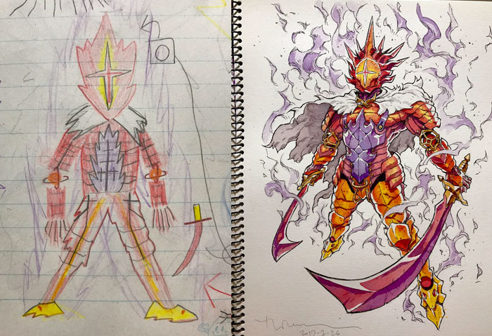 Dad Turns His Sons\' Doodles Into Anime Characters, And The Result Is ...