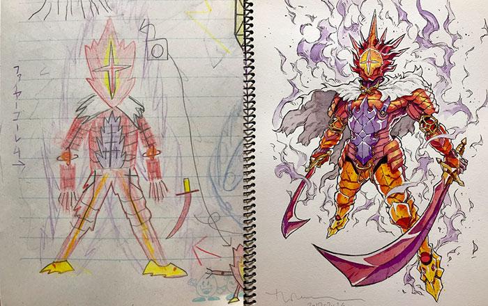 Este padre convierte los dibujos de sus hijos en increíbles personajes de anime