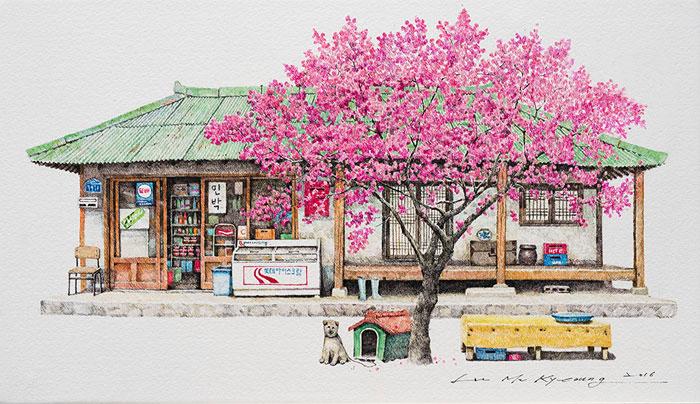 South Korean Store Drawings