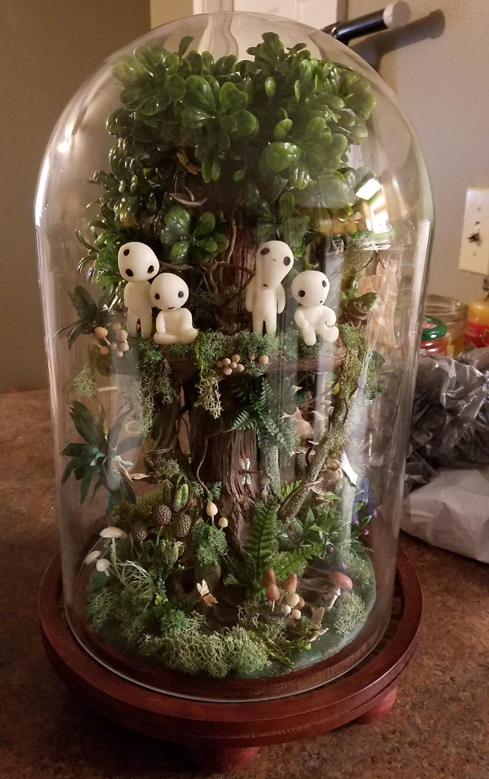 Mom Makes A Studio Ghibli-Inspired Terarrium For Her Daughter's