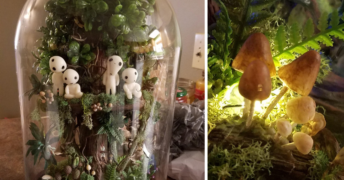 Mom Makes A Studio Ghibli-Inspired Terarrium For Her Daughter's Birthday And It Will Spirit You Away