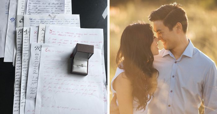 Man Spends 3 Years Proposing To His Girlfriend Via Love Letters, She Never Notices It Until One Day