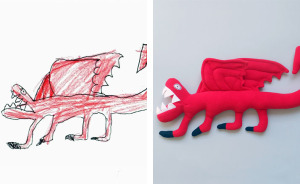 I Turn The Drawings Of Little Artists Into Reality