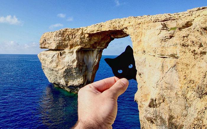 Este artista usa recortes de papel para transformar paisajes famosos en arte