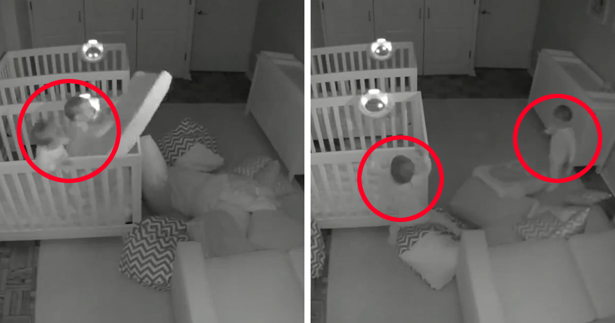 Parents Can't Believe Their Eyes After Seeing What Their 2-Year-Old Twins Do At Night