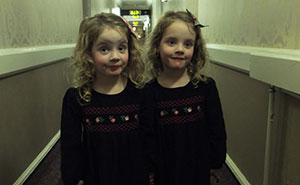 Dad Uses His Identical Twins To Scare People In Hotels, And It's Hilariously Terrifying