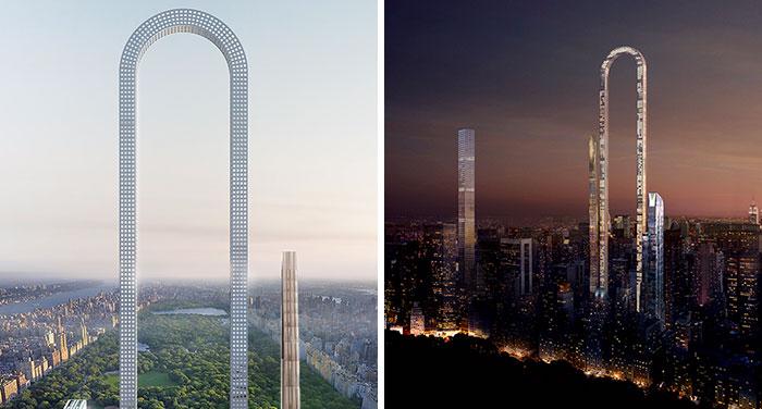 Revelan un increíble rascacielos con forma de U en Nueva York, y va más allá de nuestra imaginación