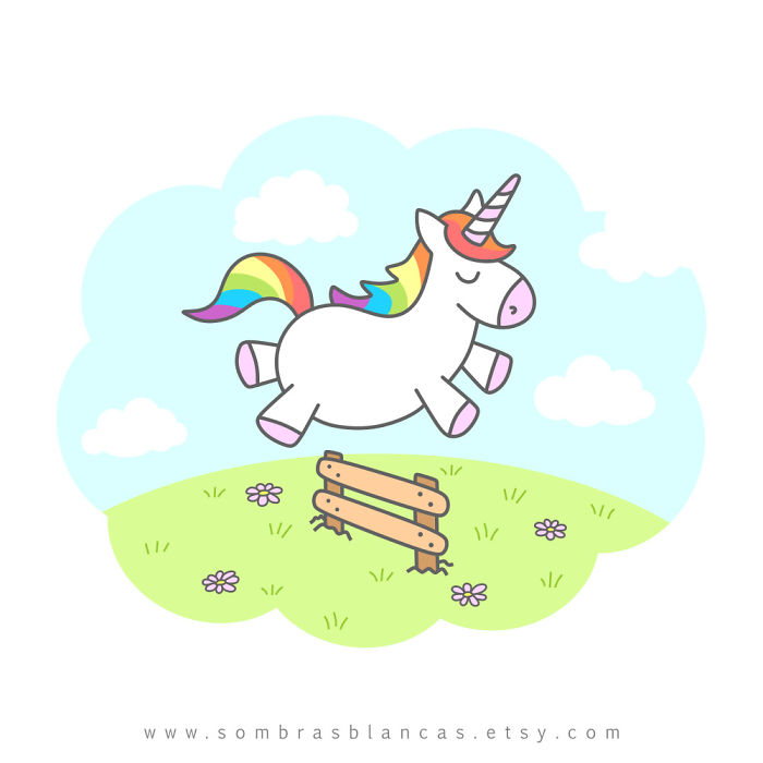 These Illustrations Of Unconcerned-Looking Unicorns Will Brighten Up Your Day